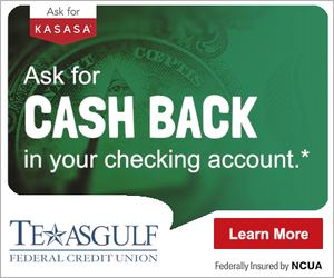 Texasgulf Federal Credit Union Kasasa Cash Back Checking